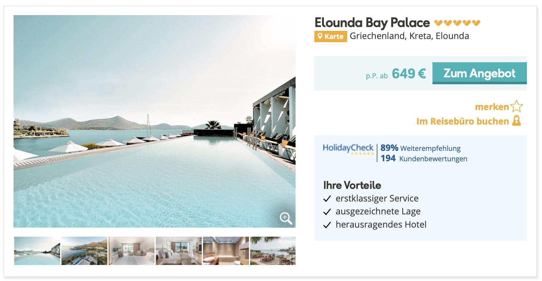 Leading Hotel Of The World Auf Kreta Inkl Flug Halbpension